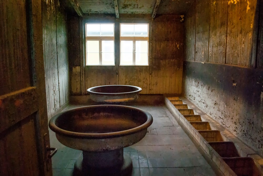 Sachsenhausen camp living areas