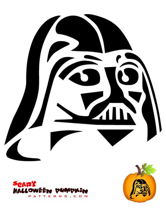 Peaceful image inside star wars pumpkin stencils printable