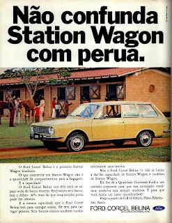 propaganda Ford Corcel Belina - 1970; os anos 70; brazilian cars in the 70s; Oswaldo Hernandez; década de 70;