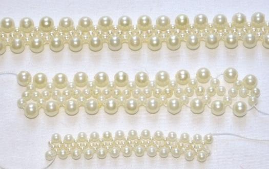 Если делать 9 вершин, то корона получается 3,5см в высоту, диаметр...  На его основе плету корону из бусин.