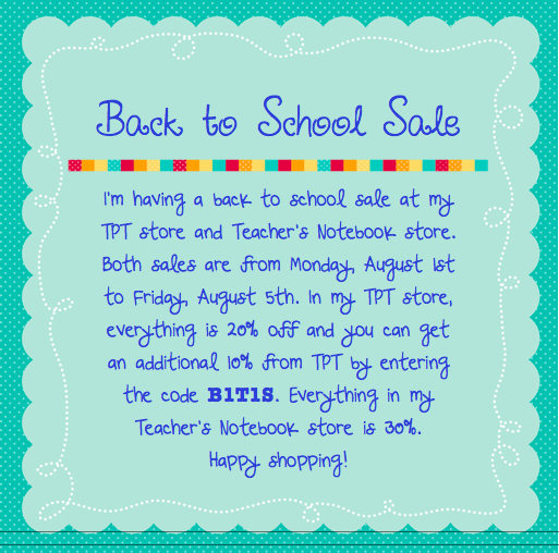 Swimming Into Second: Back to School Sale