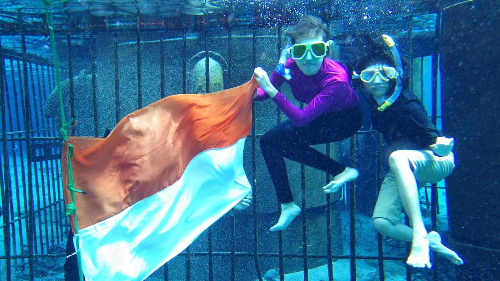 snorkeling Umbul Ponggok Klaten