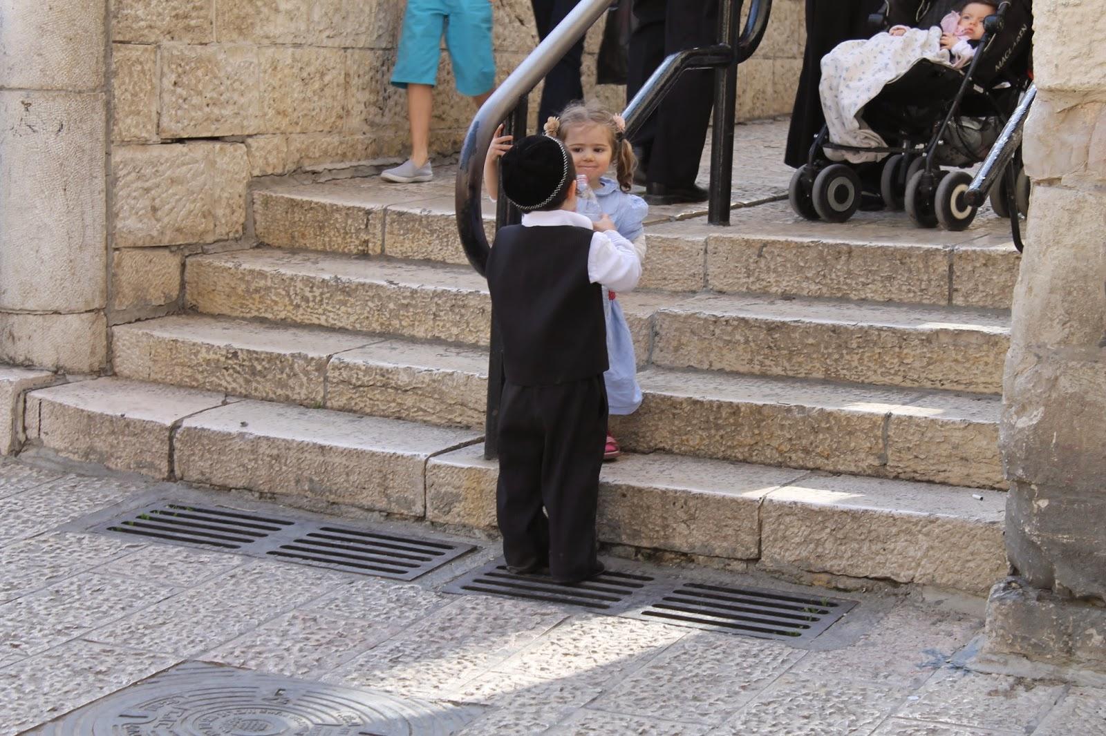 kinderen joodse wijk Jeruzalem
