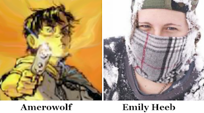 Avatars of Amerowolf and Emily Heeb (InfoBarrel and Paw Mane Fin author)