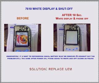 nokia 6670 lcd white problem