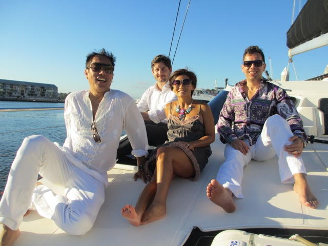 Thai, Paul, Janet, Giovanni - cruising in Sydney