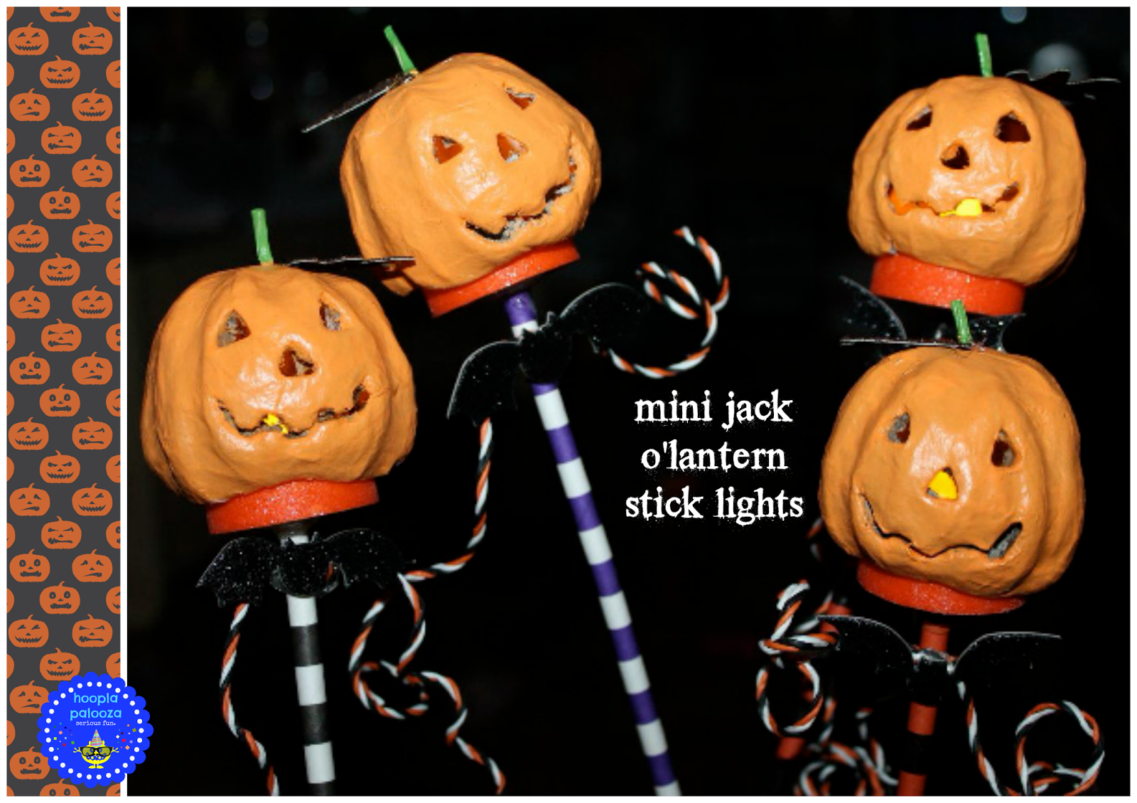 mini jack o'latern stick lights