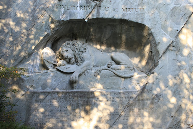 Lowendenkmal (Lion Monument) in Lucerne, Switzerland