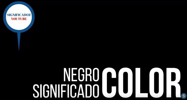 Color Negro ¿Que Significa?