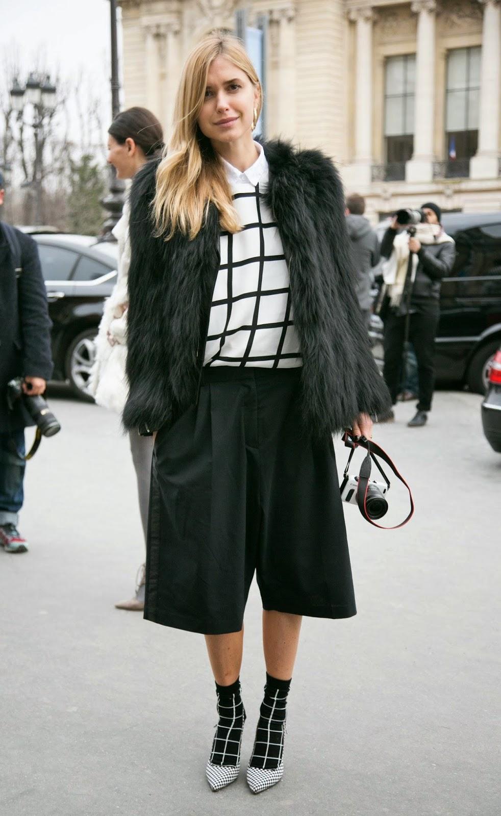 Eniwhere Fashion - Culottes - Pelliccia - Trend FW 2014-15