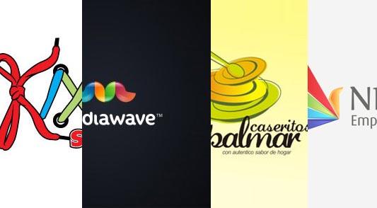 ejemplos coloridos diseños logotipos