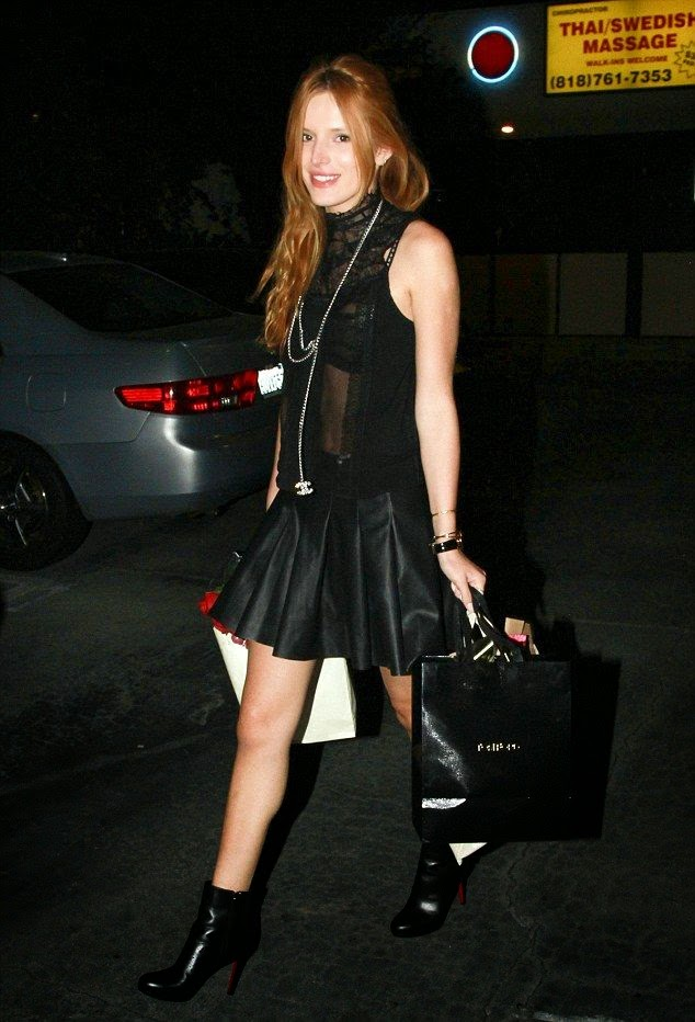 There's no better way to celebrate your birthday than a party with all your best friend. And Bella Thorne doing to the order while commemorate of her 17th truly day at Los Angeles, CA, USA on Wednesday, October 8, 2014
