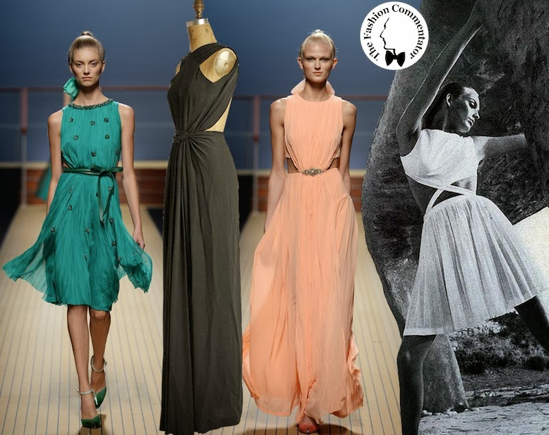 Ermanno Scervino SS 2014  -  contemporary evening gown compared to Mme Grès