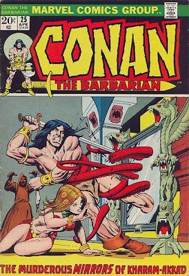 Conan the Barbarian #25, Gil Kane cover