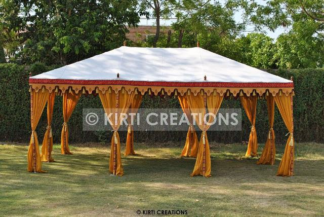 Luxury Party Tents -In orange and dark sky blue color of canvas we make this tent in hut shape which have cone shape roof that possess an awesome figure ... & Raj Tent-Tent Manufacturers: Various Forms Of Party Tents