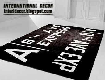 contemporary rugs, urban style rug, black and white rugs