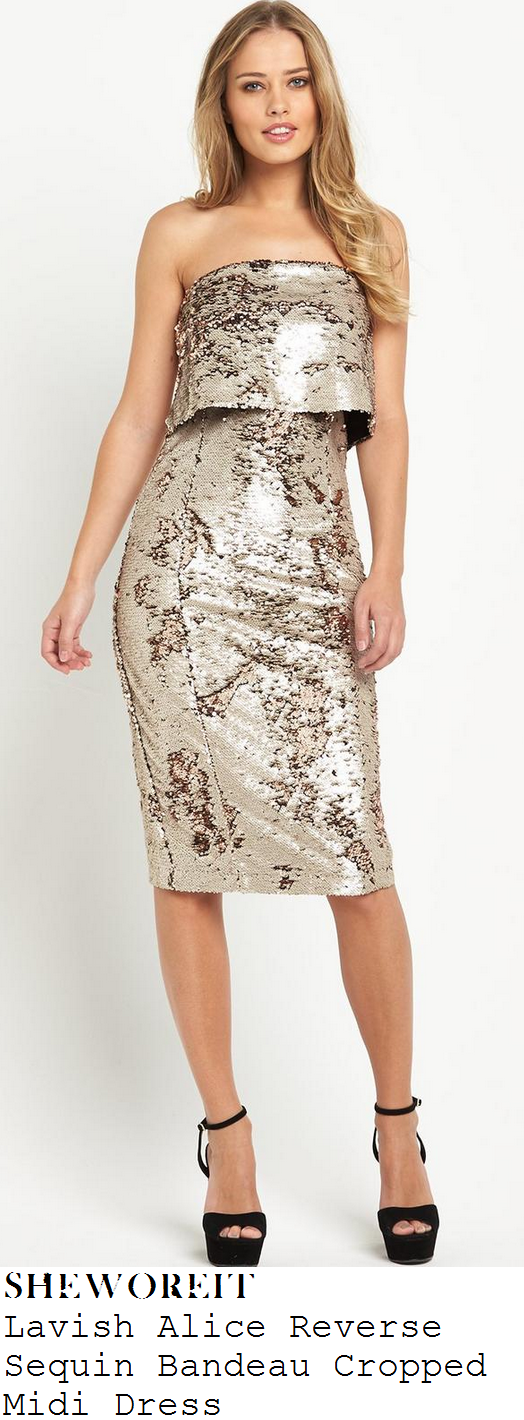 rochelle-humes-white-gold-bronze-sequin-bandeau-midi-dress-children-in-need