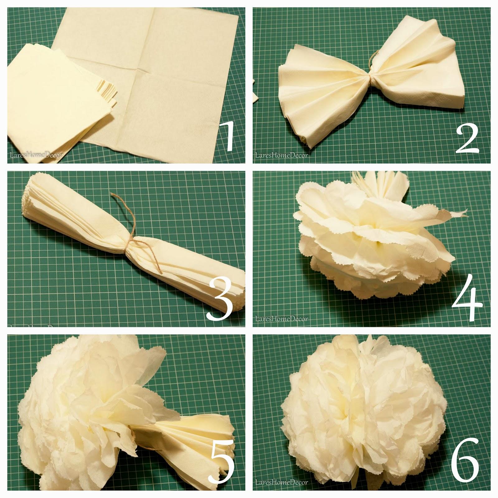 Сделать помпоны из салфеток своими руками