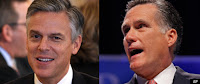 Jon Huntsman and Mitt Romney