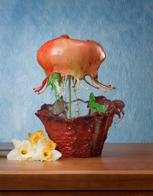 Stunning Art or Painting of Water Splash Flowers