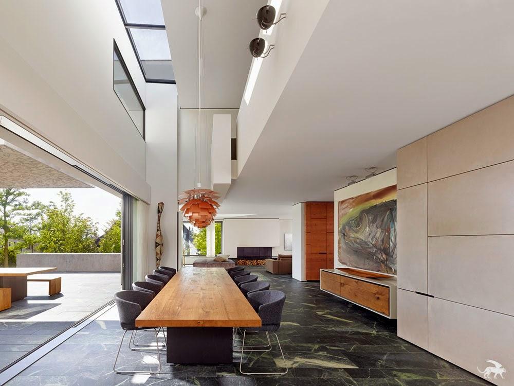hogares frescos casa fusionando espacios perfectamente conectados con amor por el arte. Black Bedroom Furniture Sets. Home Design Ideas