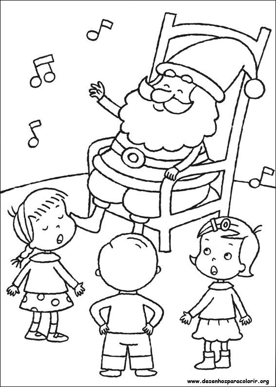 a desenhar História do Papai Noel  para copiar colorir