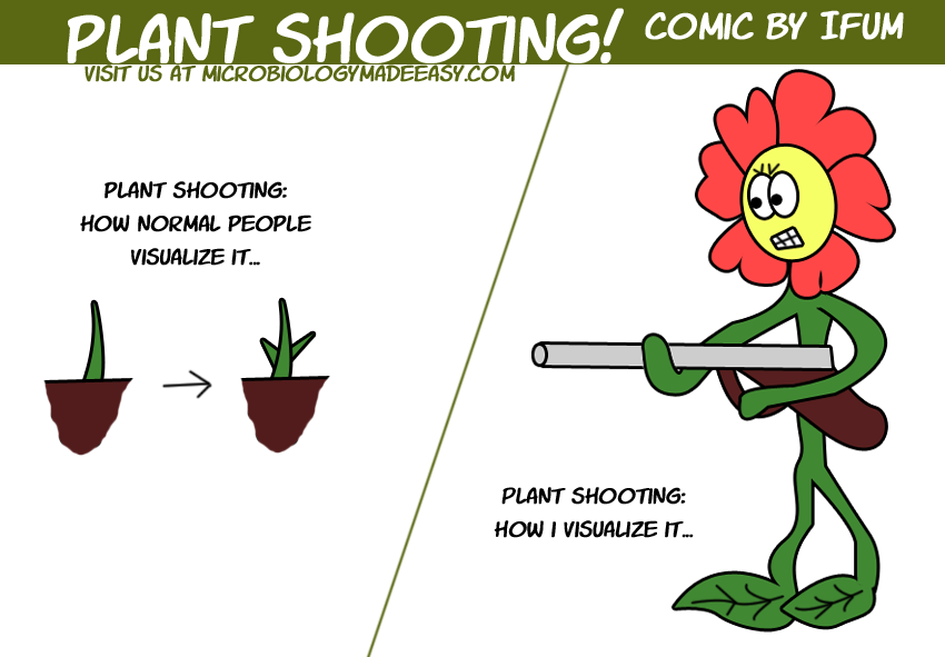 Microbiology Made Easy: Plant shooting funny