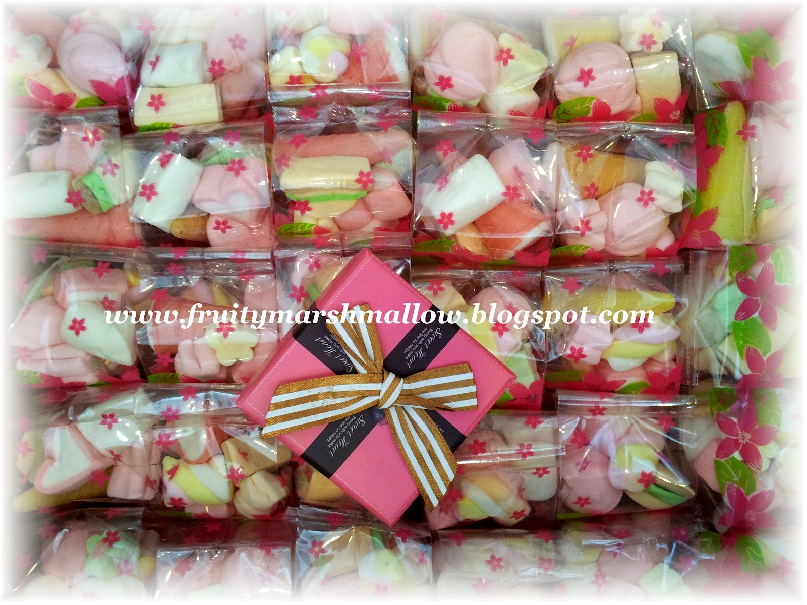 Fruity halal marshmallow for Idea door gift jimat