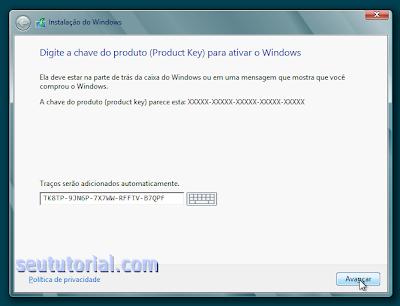 chave licença windows 8