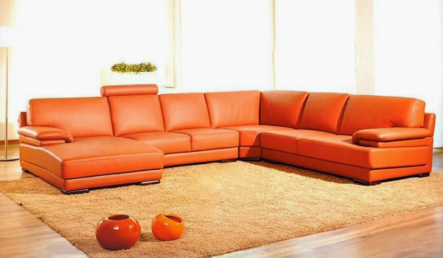 Orange couch orange sectional couch for Sofa orange