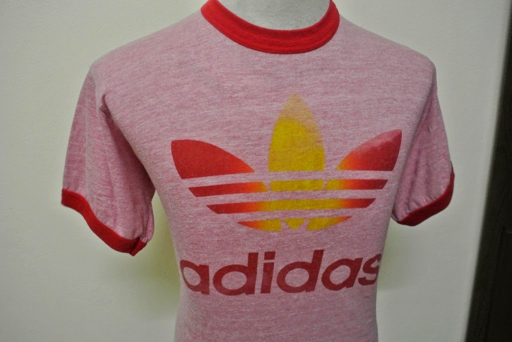 Indieclothingitems vintage adidas red adicolor ringer t for Adidas ringer t shirt
