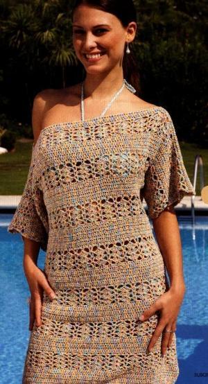 Пляжное платье (вязание крючком