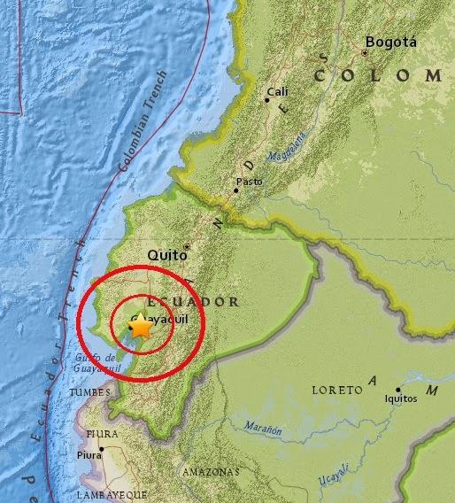 Magnitude 5.3 Earthquake of Yaguachi, Ecuador 2015-04-28