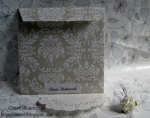 скрап-конверт с цветами, красивый конверт с цветами