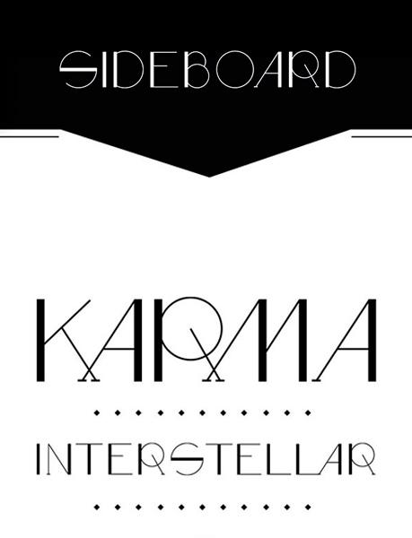 Sideboard font