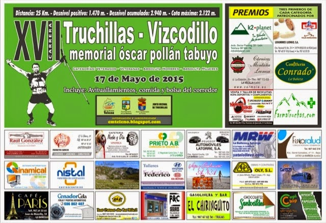 cartel carrera truchillas vizcodillo