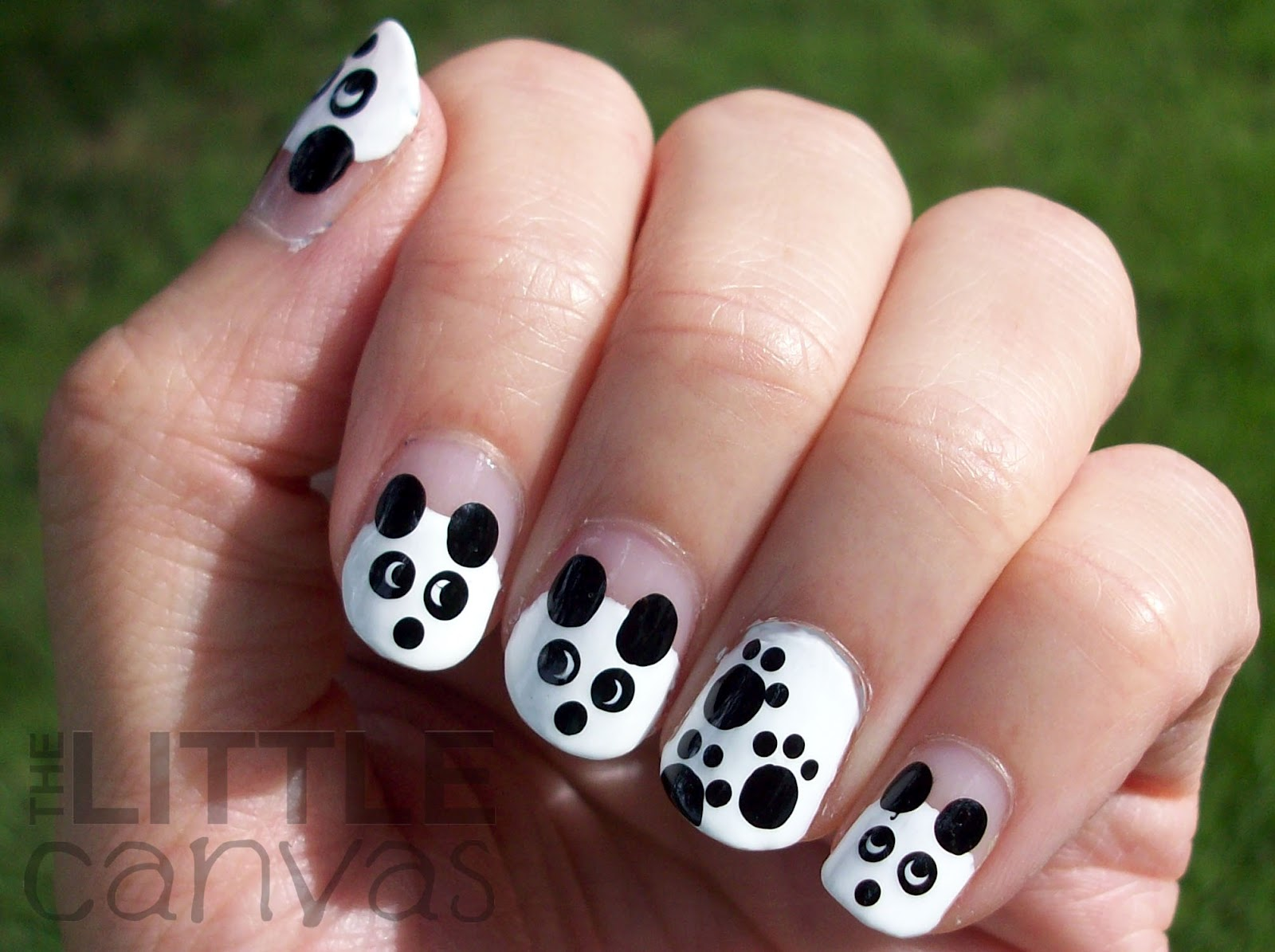 Panda nail art image collections nail art and nail design ideas 31 day challenge day 8 black and white pandas the little 31 day challenge day 8 prinsesfo Images