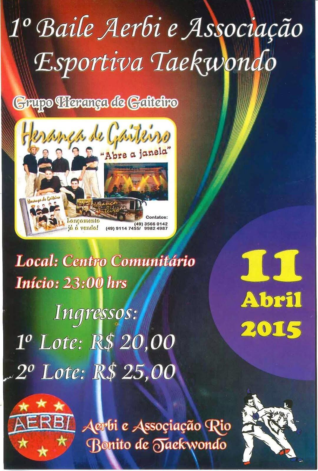 Rio Bonito do Iguaçu:Vem aí... dia 11 de abril .. mega show baile com o Grupo Herança de Gaiteiro