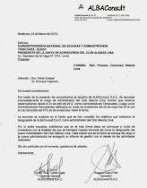 """Alba Consult: """"Renunciamos tras haber cumplido los objetivos""""."""