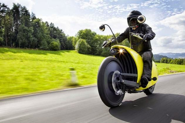 Johammer Electric Motorcycle with incredible performance in streamline gastropoda body
