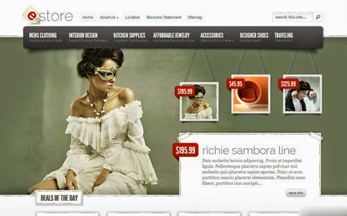 eStore ElegantThemes Wordpress Theme Version 3.9 Free