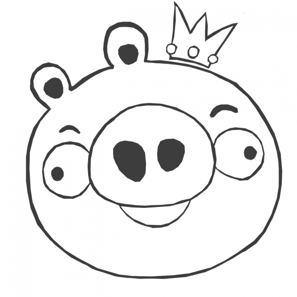 Print And Coloring Page Angry Birds (PIG) For Kids