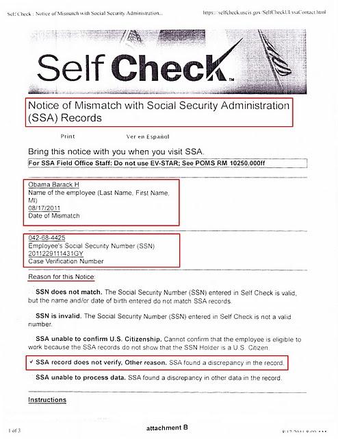 Obama Failed E Verify