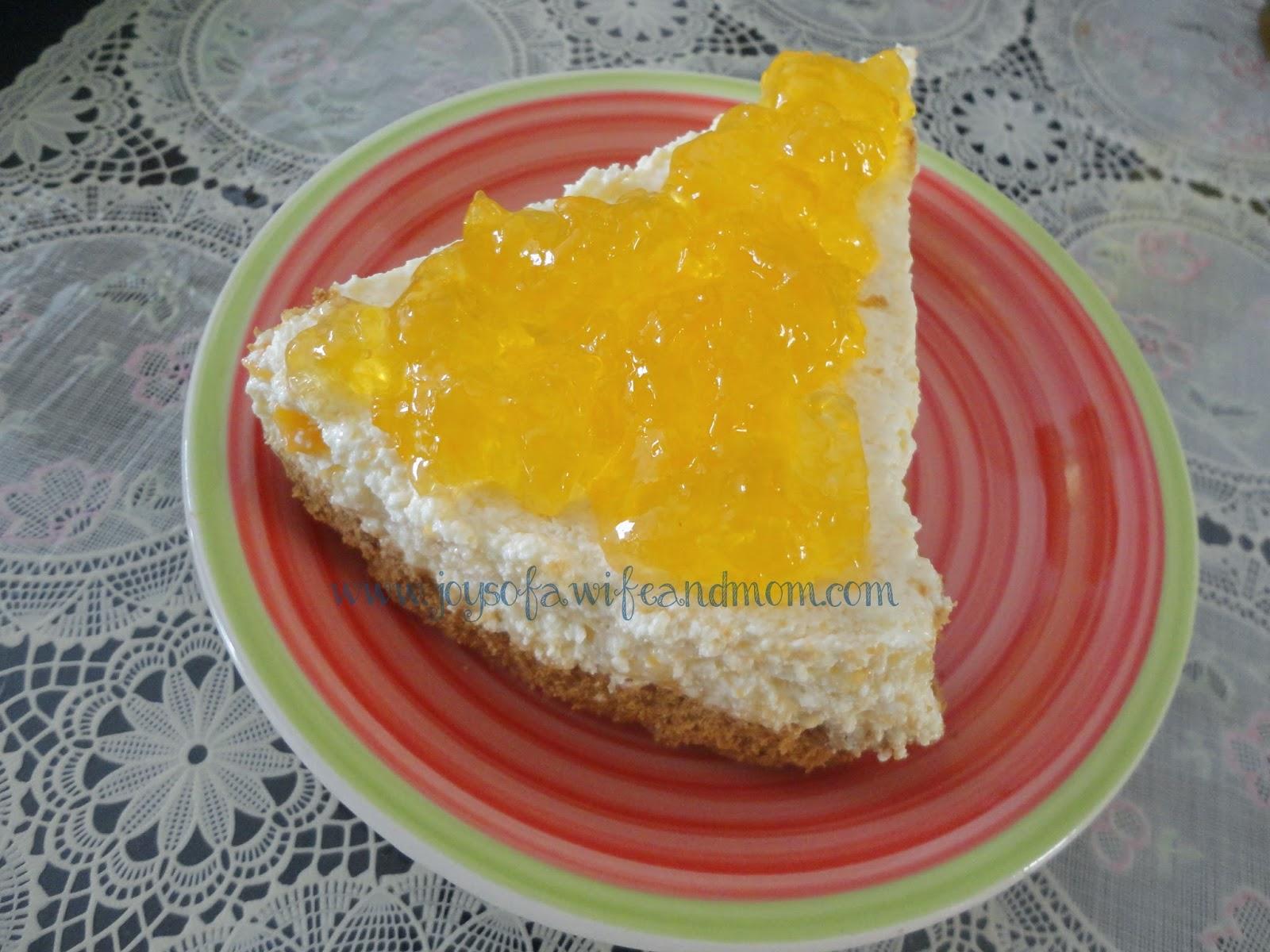 Home-made No Bake Mango Cheesecake