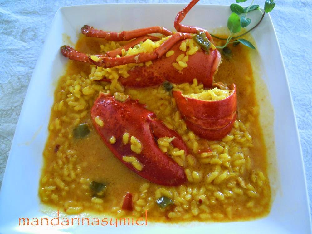 como cocinar arroz con bogavante: