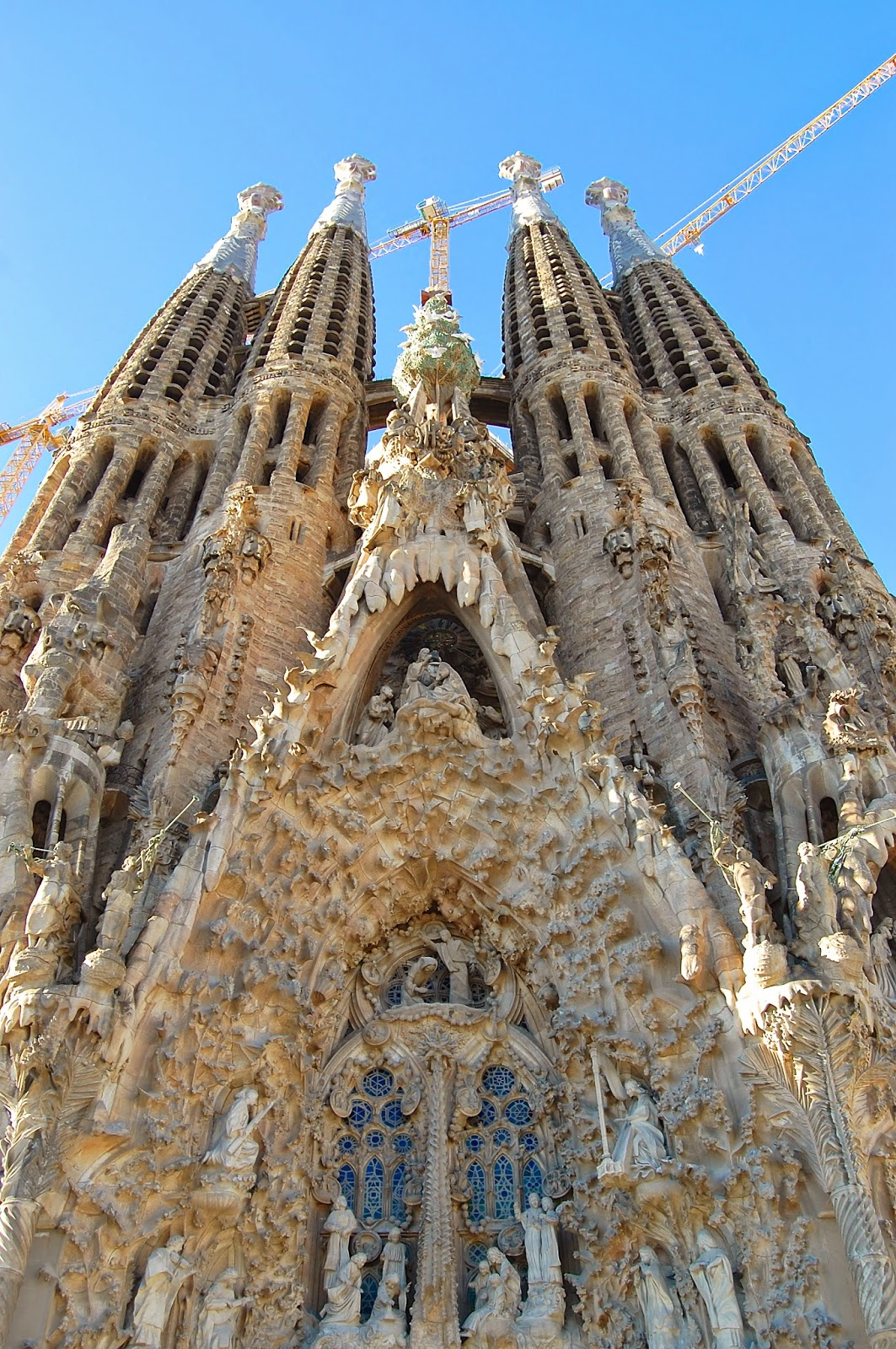 Dripping stone on the Nativity Facade of the Sagrada Família