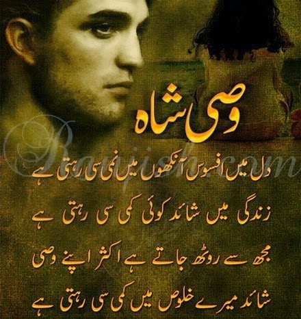wasi shah poetry: dil may apsos ankuon may namee se rehte hai