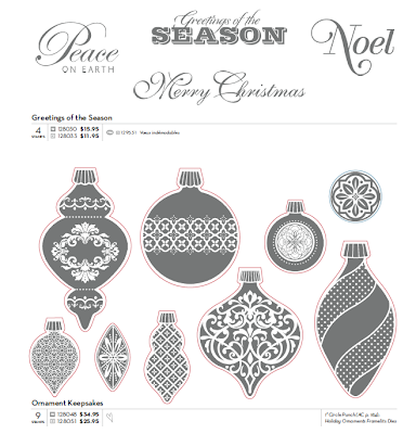 Stampin'UP! Christmas Stamp Sets: Greetings of the Season and Ornament Keepsakes