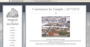 CLIQUE AQUI E ASSITA AO VIVO A CONTRUCAO DO TEMPLO