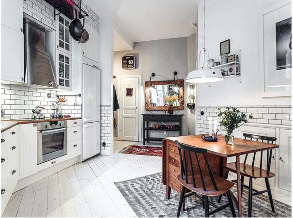 Duplex Loft in Kungsholmen Scandinavian Interior Kitchen